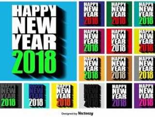 2018年新年快乐广场按钮