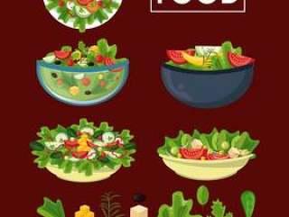 健康和新鲜的食物吃