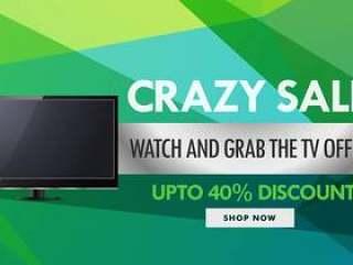电视和电子产品销售和折扣券设计温度