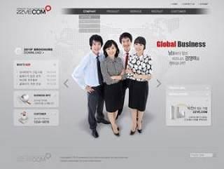 企业网页模板PSD分层(818)
