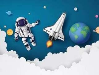 漂浮在平流层的宇航员宇航员