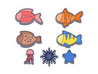 出色的海洋鱼载体