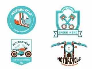 摩托车会徽矢量包