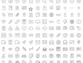 icon素材 线框型icon 常用社交网络icon素材