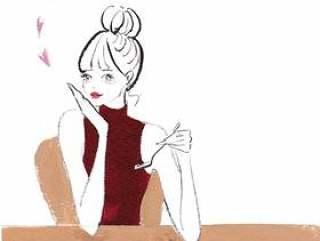 咖啡厅女孩