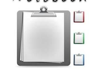 笔记本与夹子——psd分层素材