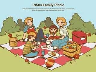 20世纪50年代家庭野餐