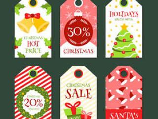 圣诞节折扣吊牌