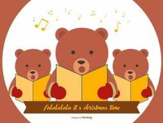 可爱的熊圣诞颂歌