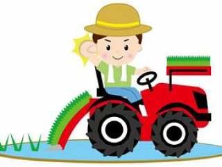 水稻种植机(含人)