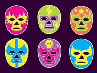 墨西哥摔跤手面具矢量