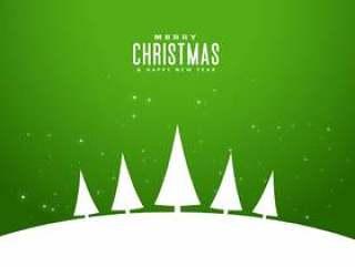 最小的样式典雅的圣诞快乐问候设计