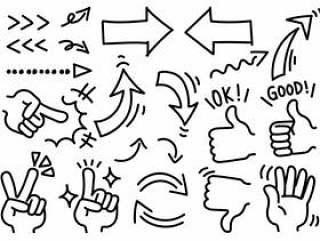 手写的箭头和手设置02