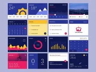 Material Design Widgets Ui Kit - PSD