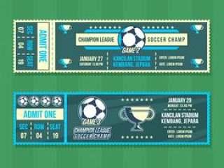 足球冠军赛事票 矢量