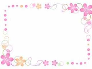春天材料116花框架