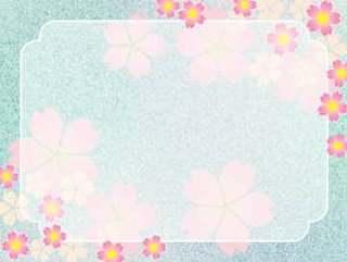 樱花框架日本风格的插图图