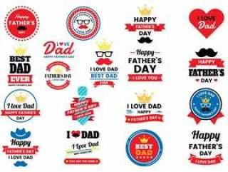 横幅的父亲节生日传染媒介商标