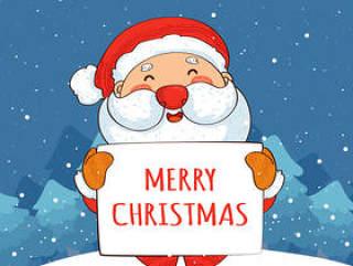 雪地里的圣诞老人