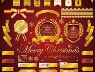 圣诞节/丝带/框架/冬天材料集合