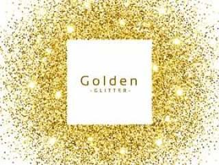 抽象的金色闪光闪闪发光框架