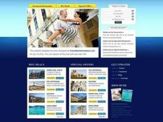 经典旅游网站PSD分层