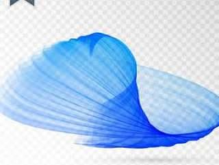 蓝色抽象波浪设计背景