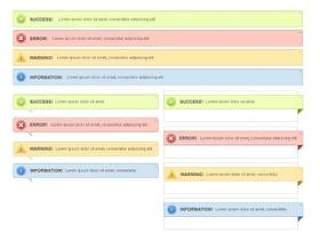 网页提示框——psd分层素材