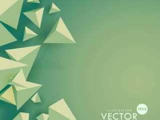 与三角形形状的绿色背景