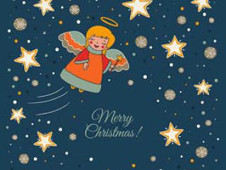 圣诞天使和星星