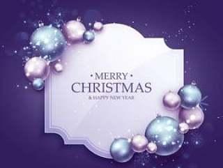 与现实xm的美丽的紫色圣诞节问候背景