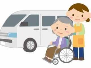 一个女人转移和一个轮椅的女人