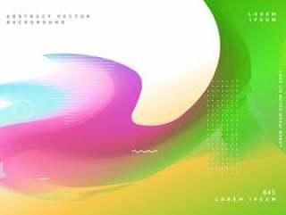 多彩的波浪流体渐变颜色背景