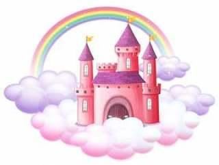 一个粉红色的童话城堡