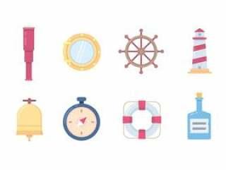 海洋和船舶的图标