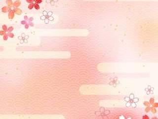 樱桃粉彩_日本图案_垂直1647年