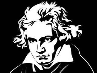 贝多芬肖像矢量