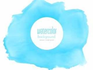抽象的蓝色水彩染色矢量背景
