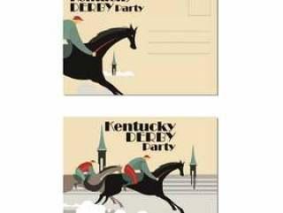 明信片伟大的肯塔基德比或马主题活动