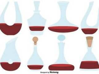 向量集的平面滗水器颜色图标