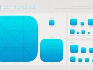 IOS8图标尺寸模板