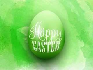 在水彩背景上的复活节彩蛋