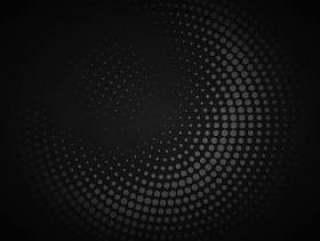 黑暗的圆形半色调背景矢量设计插画