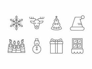 圣诞节设置图标