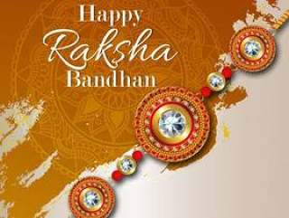 Rakhi卡设计为快乐Raksha Bandhan庆祝