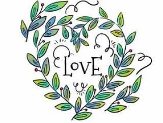 可爱的叶子,情人节的心形#x27; s Day