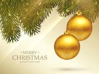 美丽的圣诞快乐圣诞节节日贺卡与现实