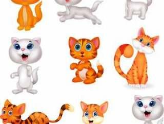 可爱的猫咪卡通集合集