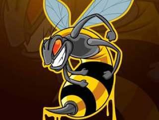 蜂昆虫吉祥人徽标