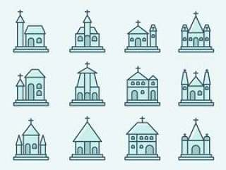 修道院和教会的图标